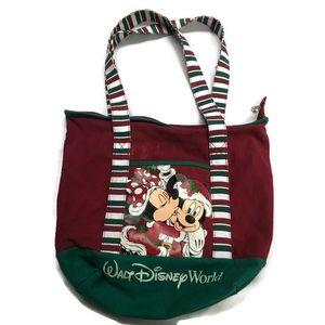 Walt Disney World Parks Mickey Christmas Tote Bag